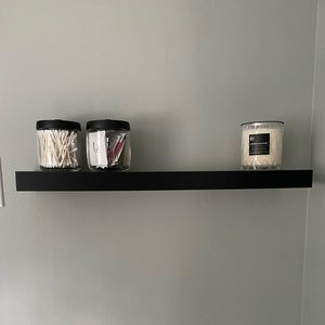 Matte Black Floating Shelves